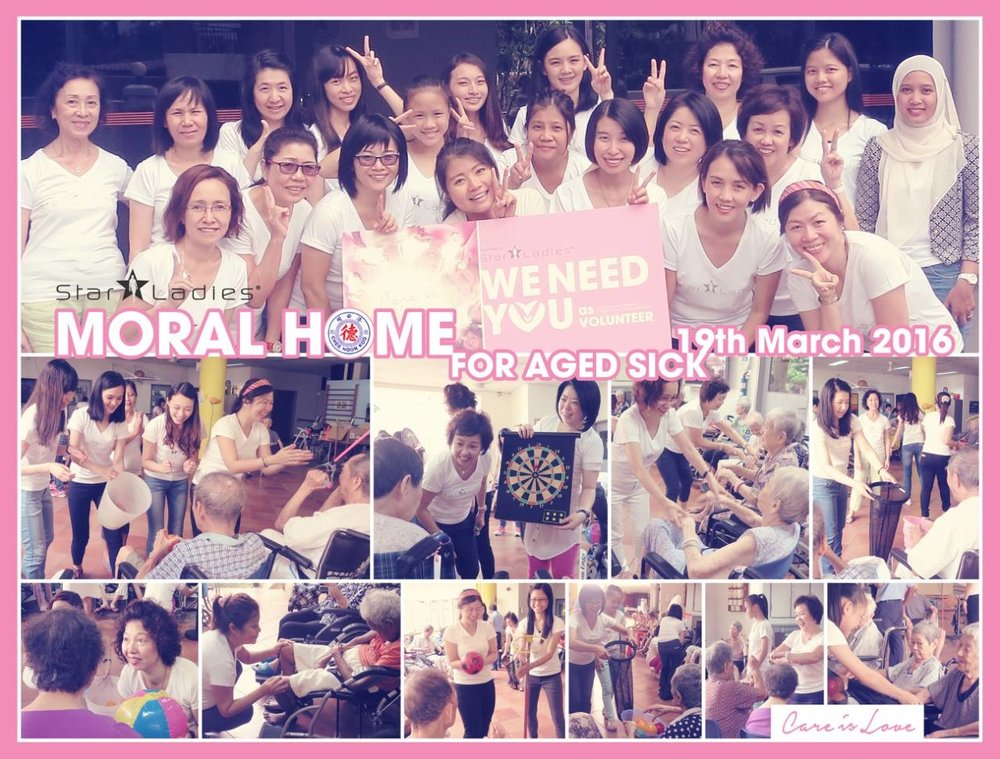 CARE IS LOVE @ MORAL HOME FOR THE AGED SICK | StarLadies Volunteers made our first voluntary visit here for the elderly! Moral Home for the aged sick is a center providing shelter and nursing care to the elderly folks. Doing morning physio and playing games with them brings back memories we shared with our granny and grandpa. There might not be much we gave, but a warm smile from them warms our heart. We care, we love, we adore each and every elderly in Moral Home, till our next visit,stay healthy!