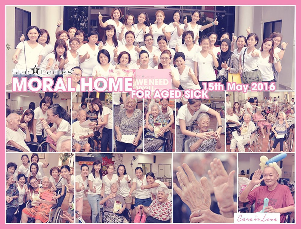 Parents' Day Celebration @ Moral Home for The Aged Sick | StarLadies Singapore celebrating Parents' Day at Moral Home for Aged Sick. We are glad we could come over for the second visit! This time we had parents' day celebration as well as birthday celebrations with the residents here. We also played games of Bingo and Box of Surprises together. We are more than happy to spend the day together. We hope to come again very soon as we are already missing them. Thank you for the wonderful and joyous day!