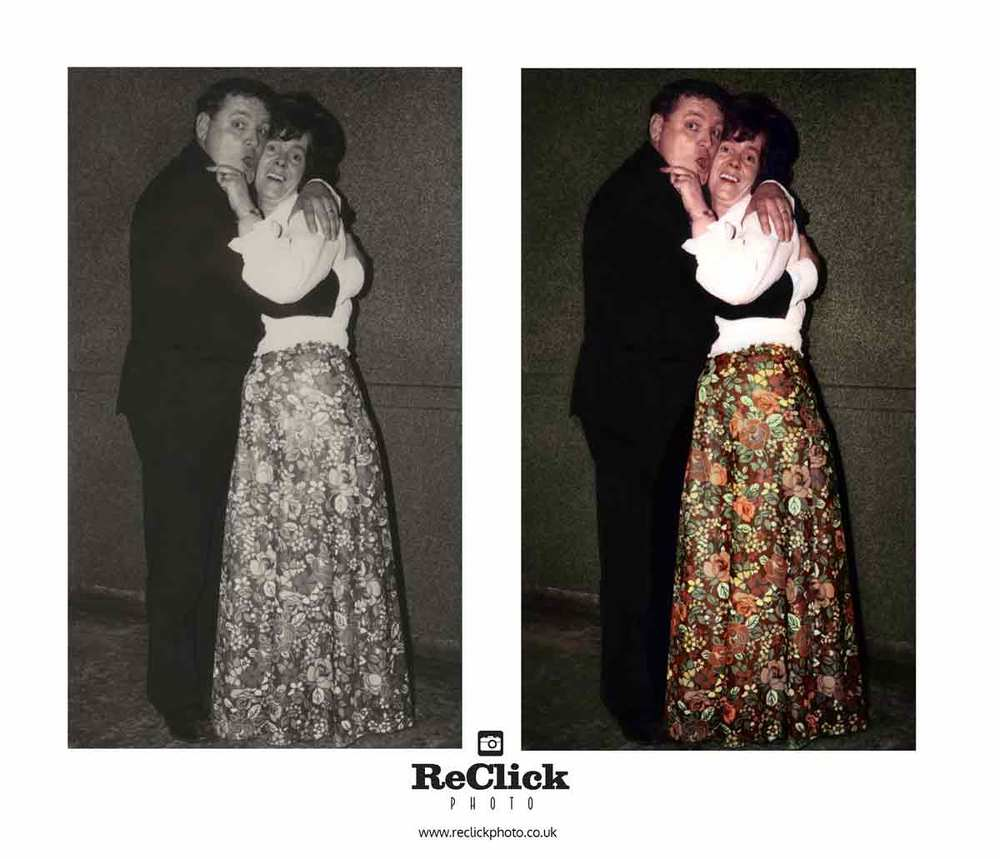 Photo restoration and recolouring.