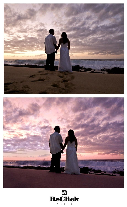 Beach wedding retouch