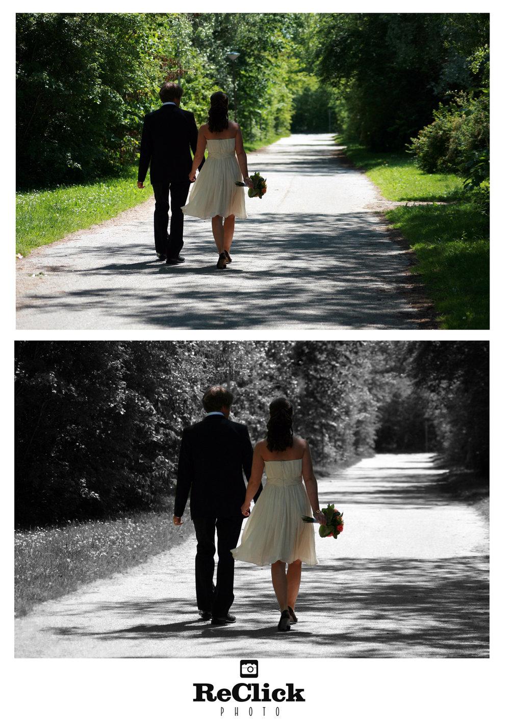 Creative wedding retouching.
