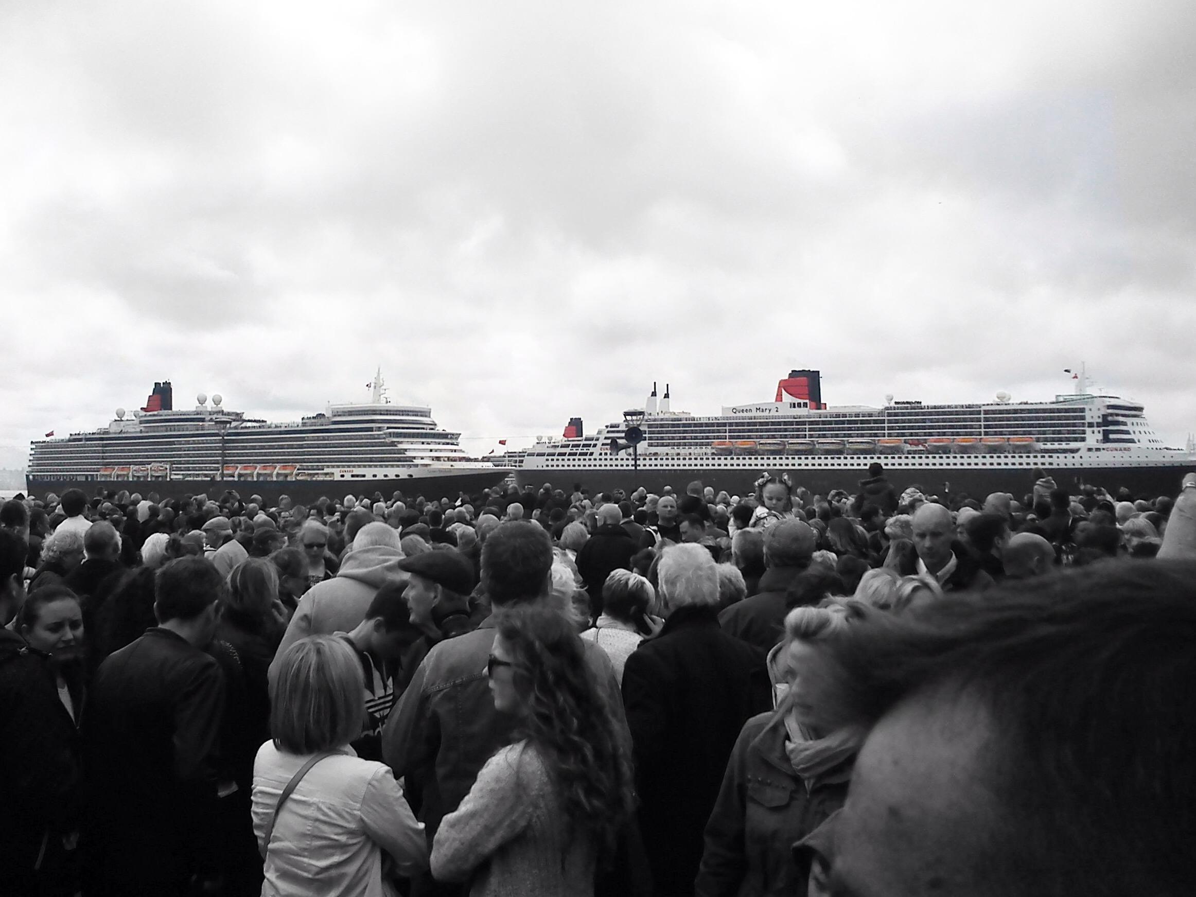 Artistic enhancement of Cunard ships
