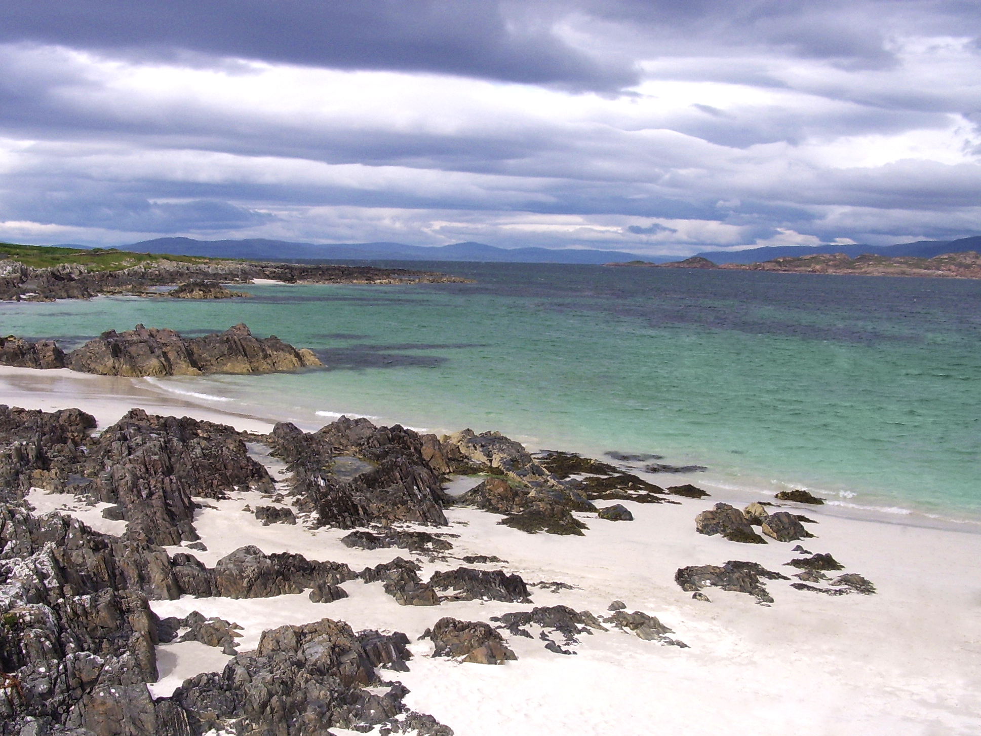 Image of the beach at Iona enhanced.