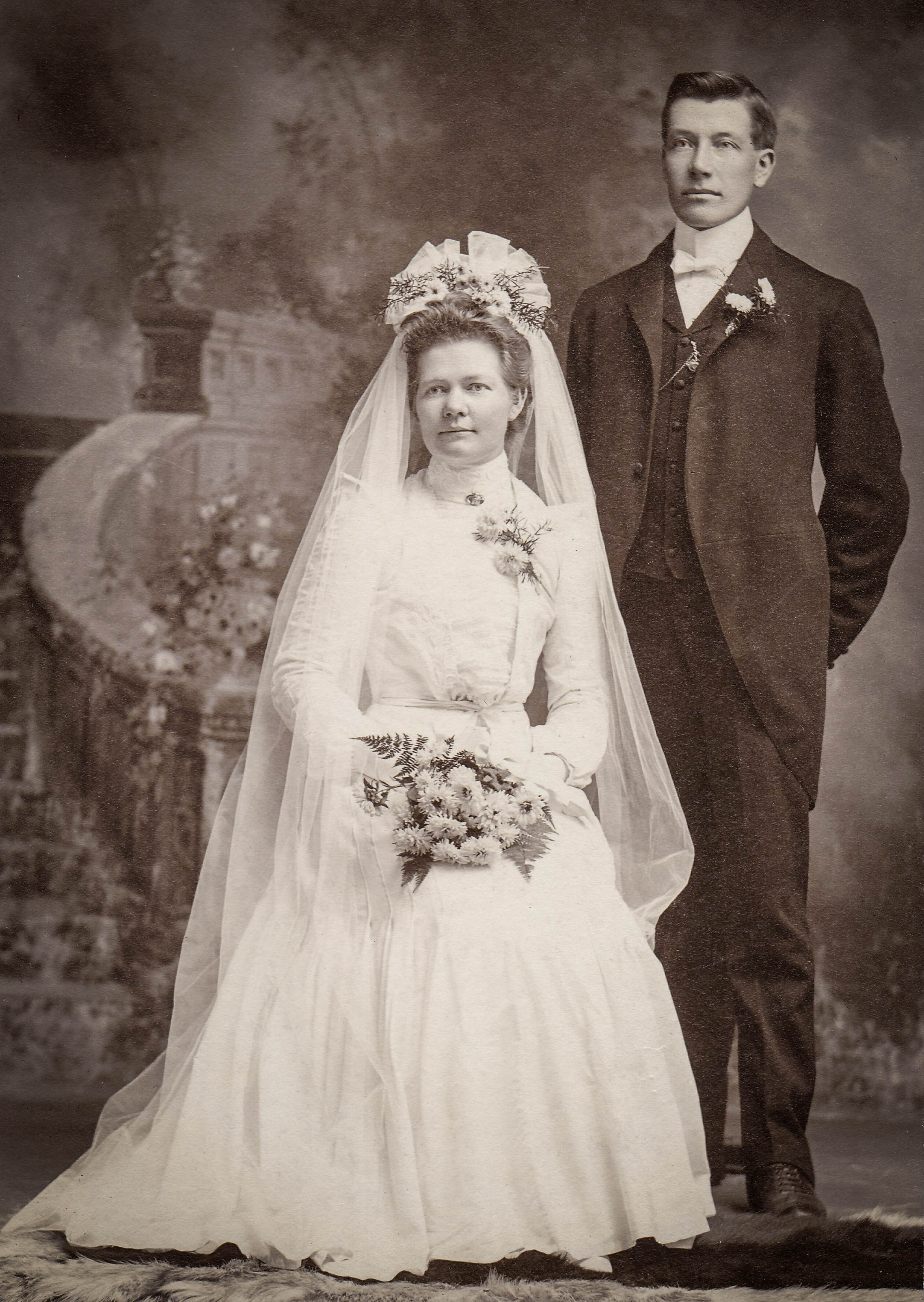 Victorian bride and groom