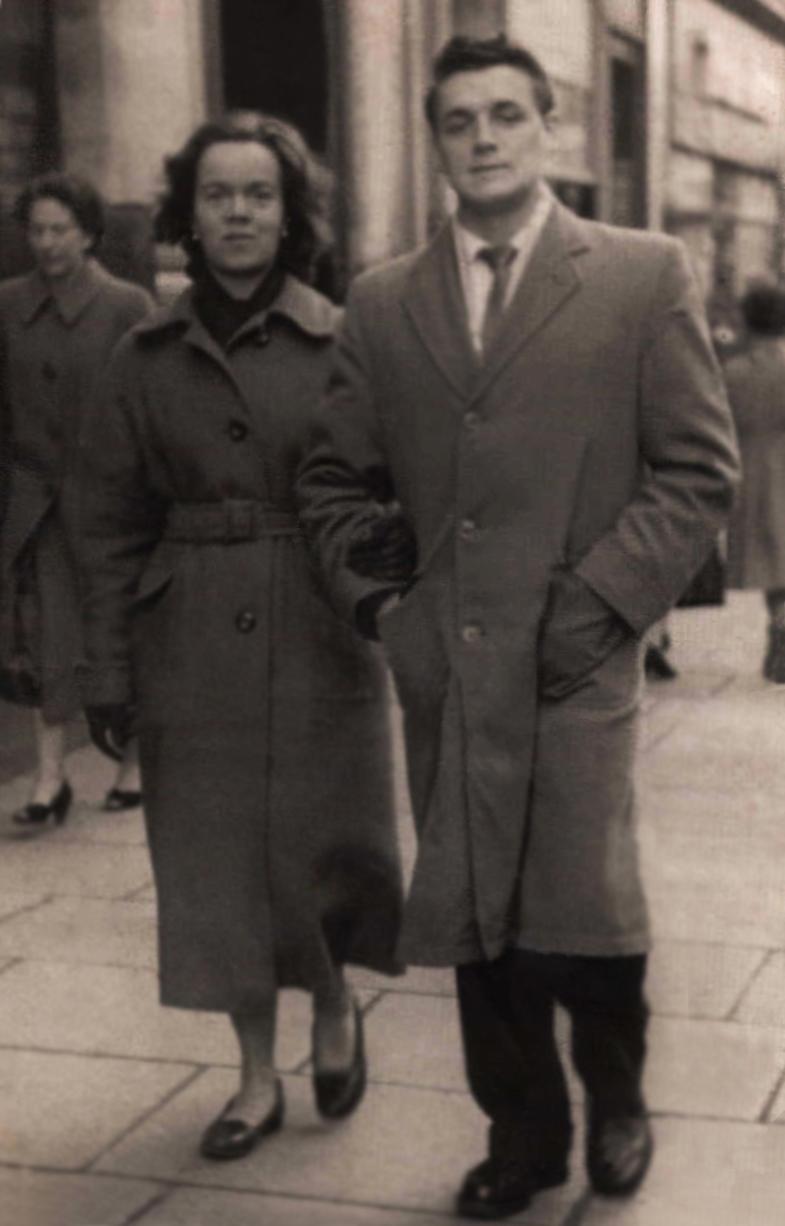 Photograph of Gran and Papa restored