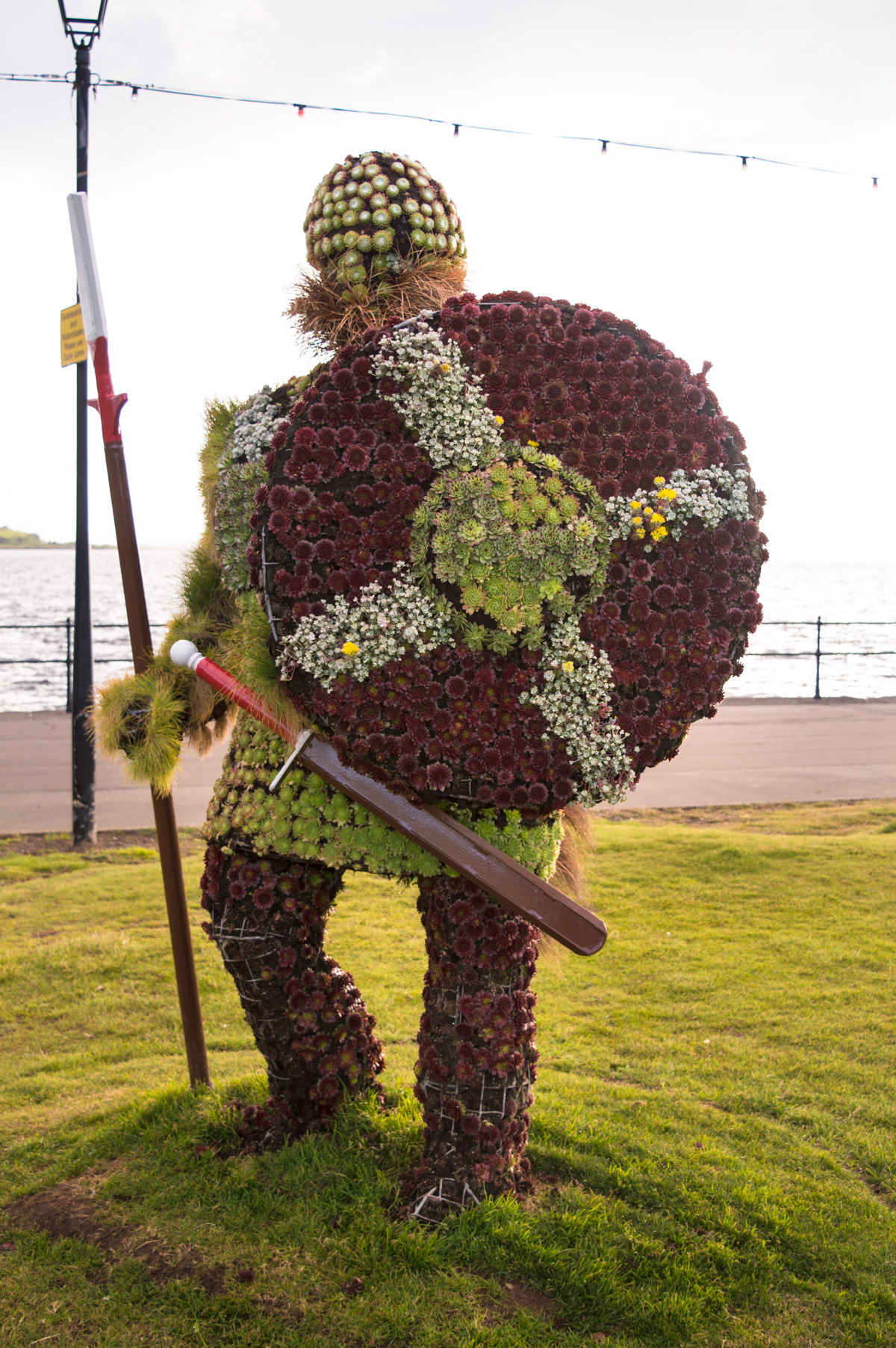 Viking floral statue