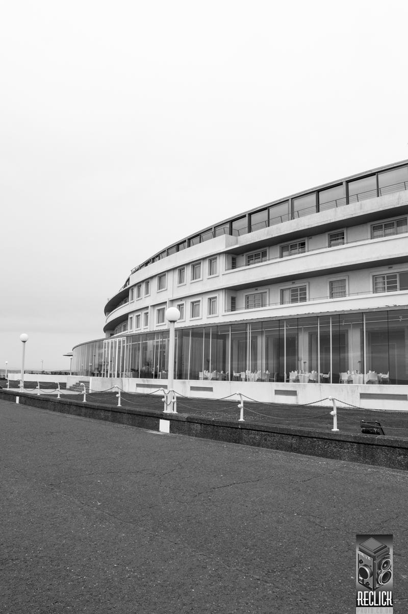 Midland hotel Morecambe Art Deco Lancashire England architecture photography mononchrome