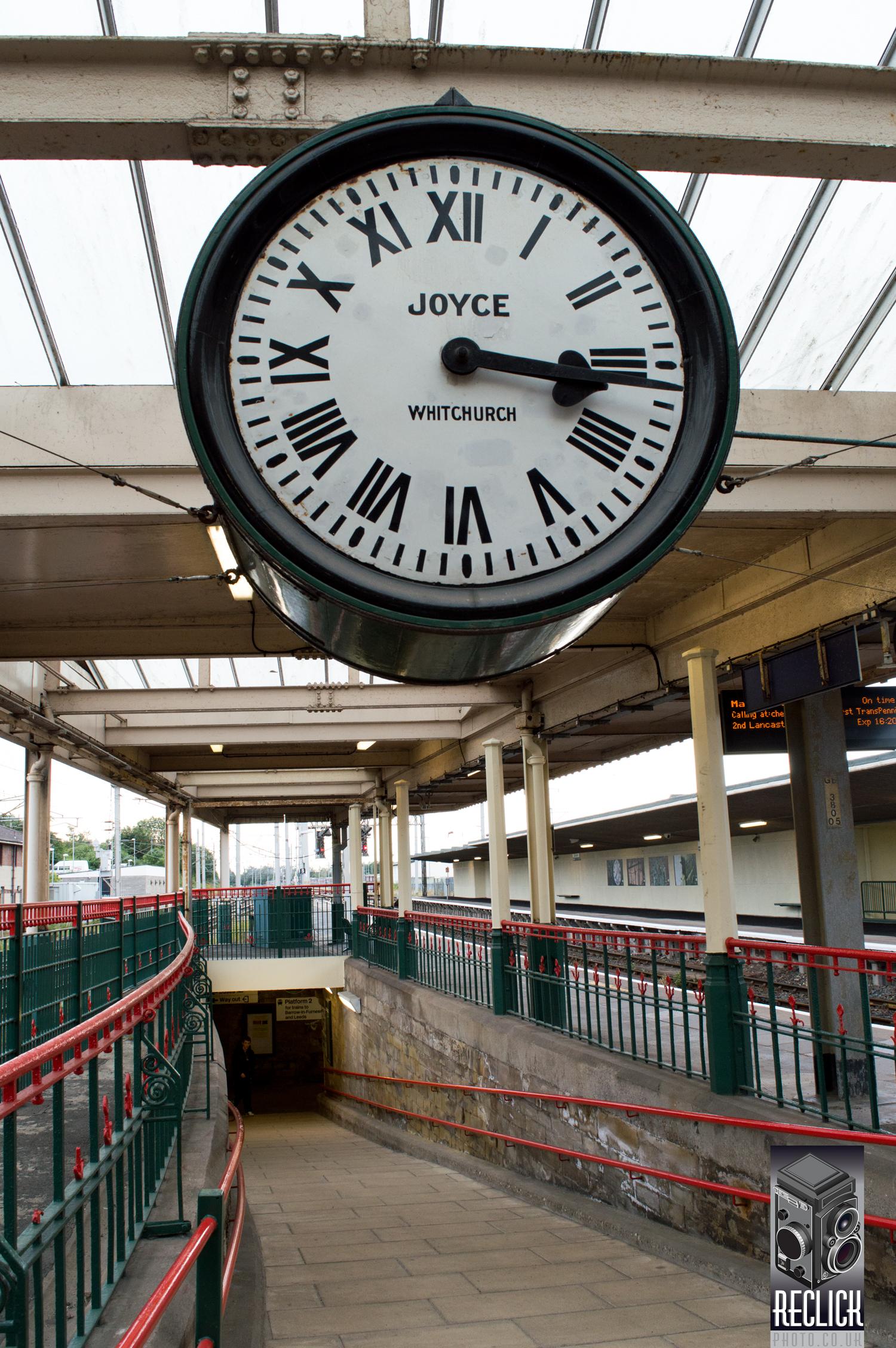 Carnforth Railway Station Lancashire clock movie film Brief Encounter David Lean Noel Coward Celia Johnson trevor howard love story