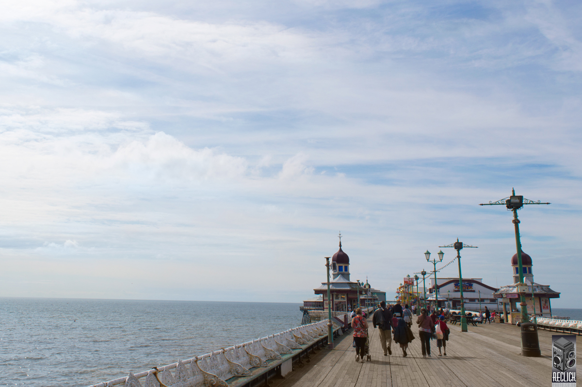 North Pier, Pier, Blackpool, Lancashire, England, seaside, resort, Victorian, architecture, sea, people, holiday.