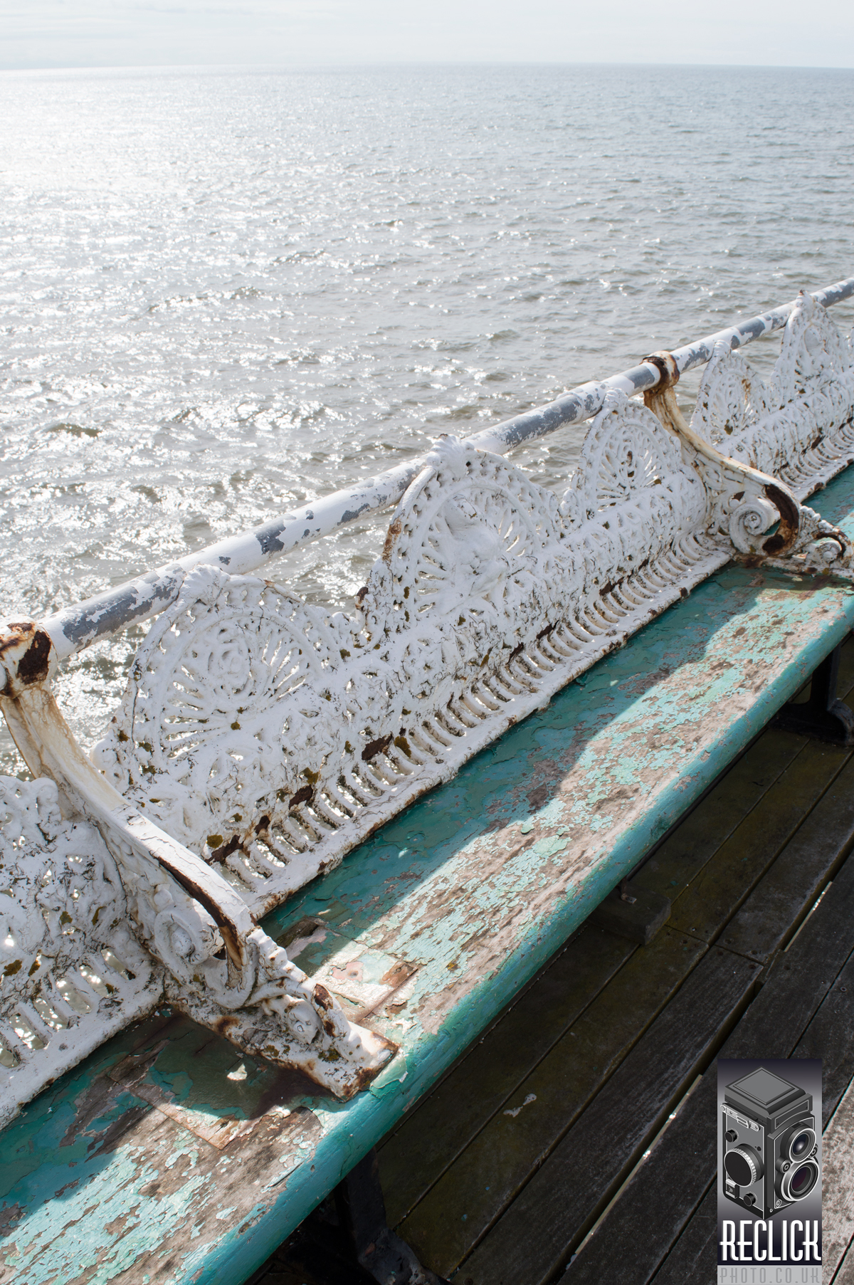Seating, North Pier, Pier, Blackpool, Lancashire, England, Victorian, architecture,distressed, weathered.