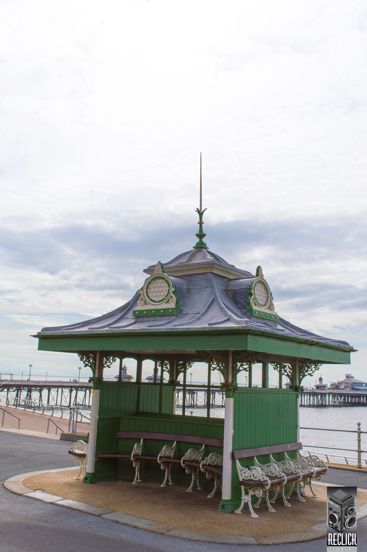 Seating, Victorian, promenade, Blackpool, Lancashire, seaside, resort