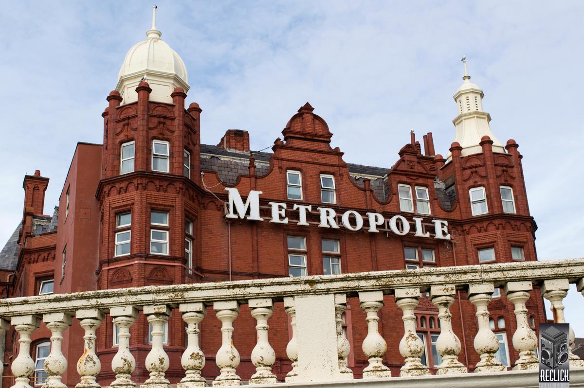 Metropole, hotel. Blackpool, Lancashire, England, Victorian, architecture,railing, balustrade.