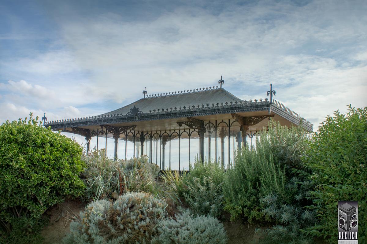Lancashire England UK Victorian seaside ornate ironwork garden plants foliage holiday nature