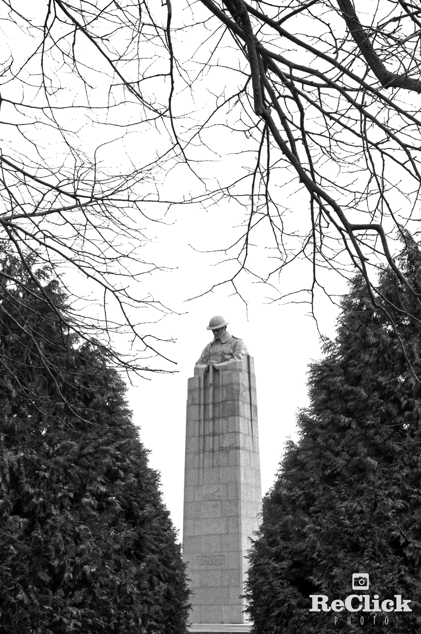 memorial, Canada, First World War, Frederick Chapman Clemesha, design, belgium, battlefield, brooding soldier, Ypres, Europe, history,