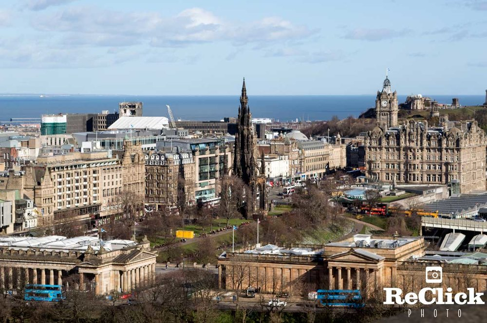 View of Princes Street, Edinburgh.