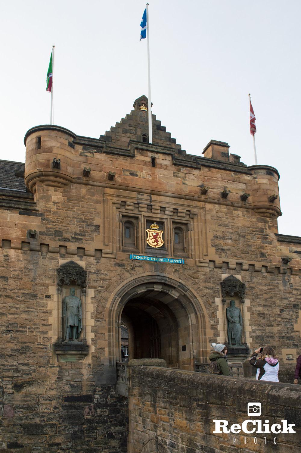 The Gatehouse of Edinburgh Castle.