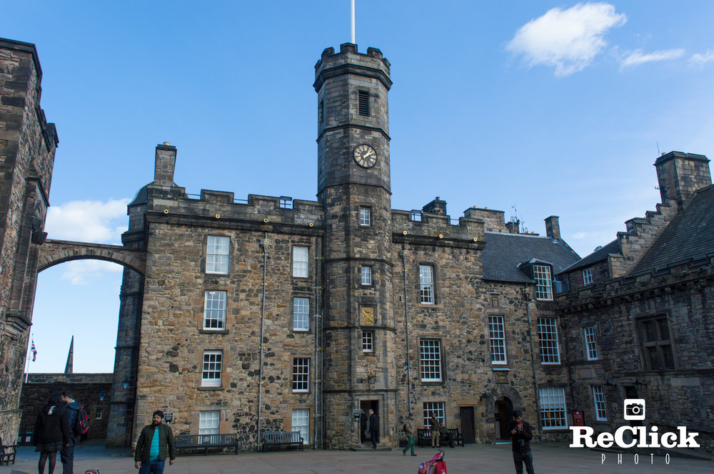 Royal apartments in Crown Square, Edinburgh Castle.