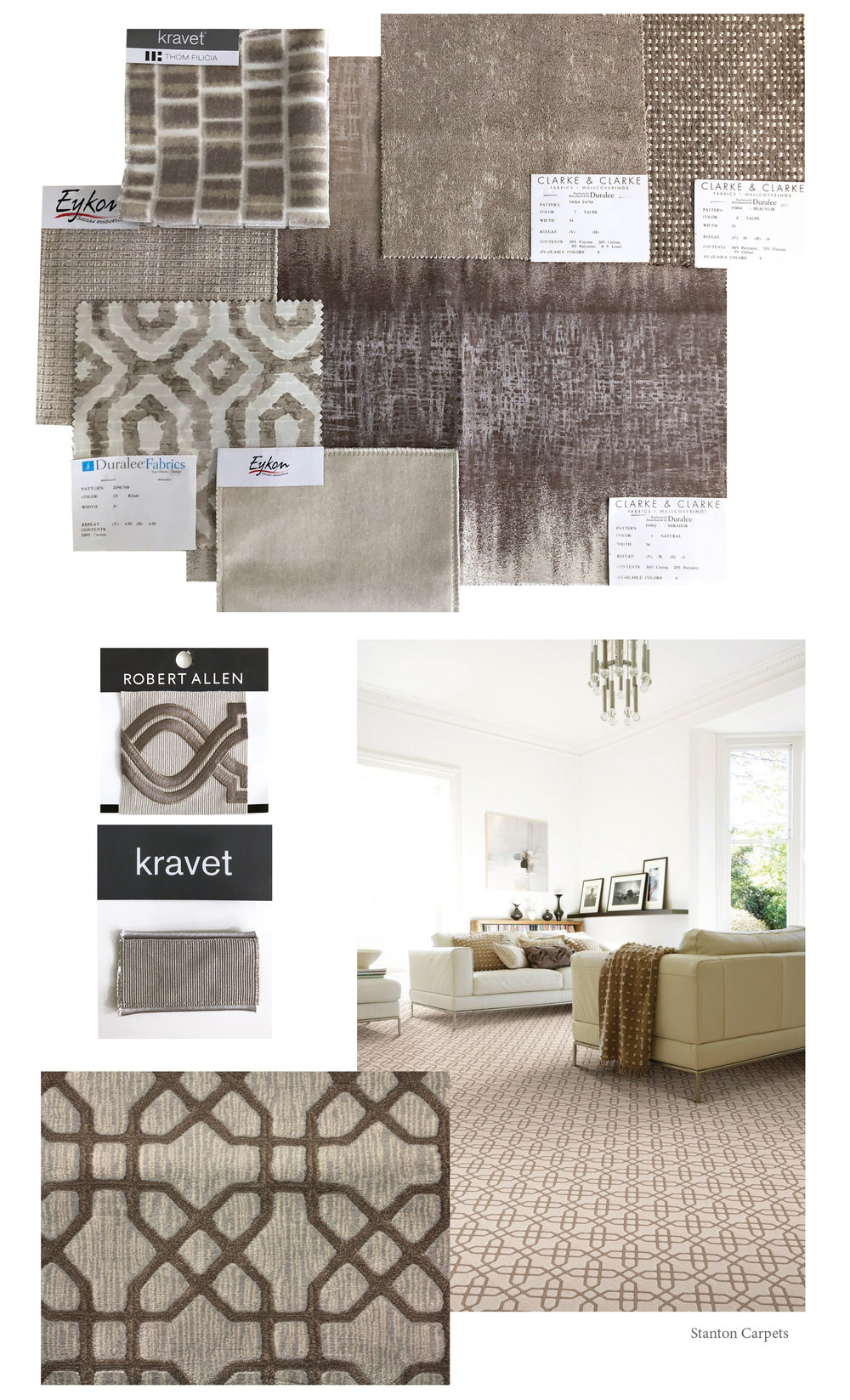 As you can see these fabric selections, trim and carpet are lovely examples that can easily be pulled in - to compliment.  As we've recently sourced furniture and lighting for this aesthetic we have an assortment to share along with a to-die-for paint color.  See the lists below for the links to all of the details.