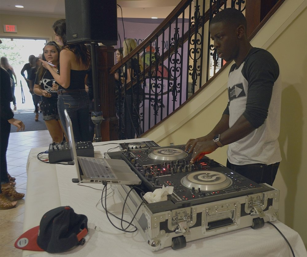 DJ Joshwayyproviding music for Scoop-A-Dish for Make-A-Wish on Thursday, Sept. 15 at the Chi Omega house.