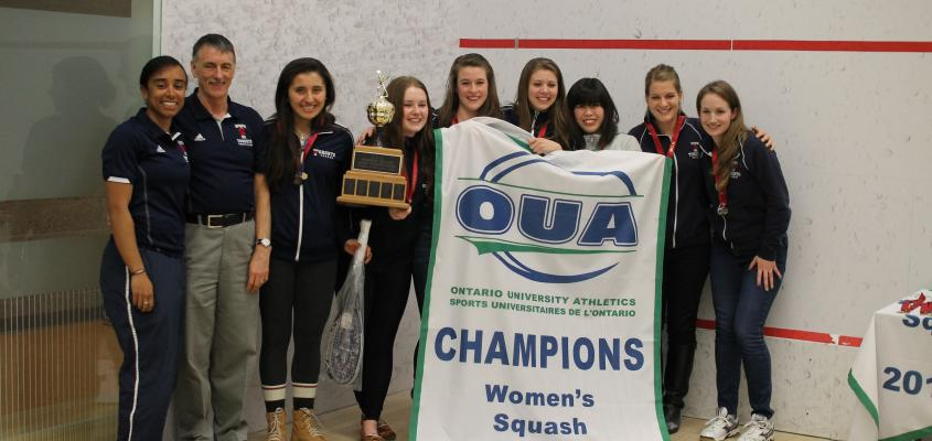 Coach Cooper and the 2013-14 OUA Champions