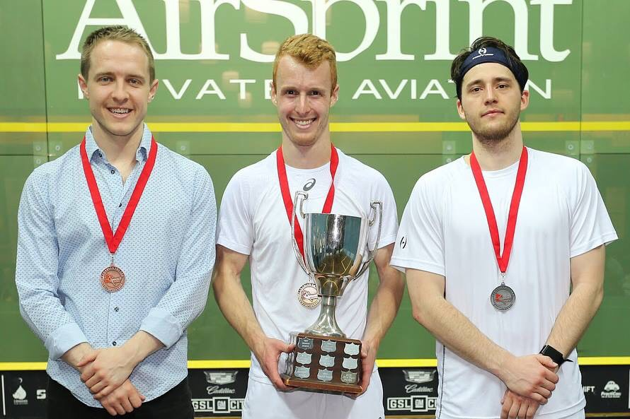 Men's Open Podium from left to right: Mike McCue (third), Andrew Schnell (winner), Nick Sachvie (second)