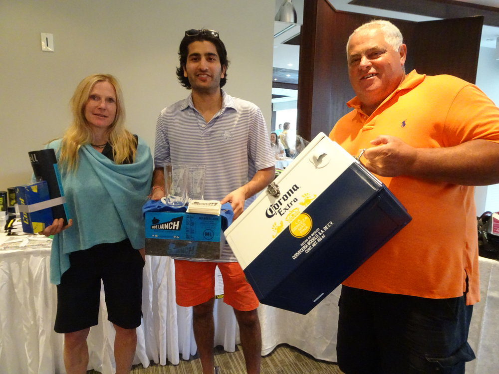 Contest Hole Winners: Robbin Wheeler (women's longest drive), Arjun Gupta (men's longest drive), Danny Paolucci (closest to the pin).