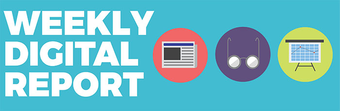 Header for the  Daily Californian's  weekly digital report || Adobe Illustrator & Photoshop