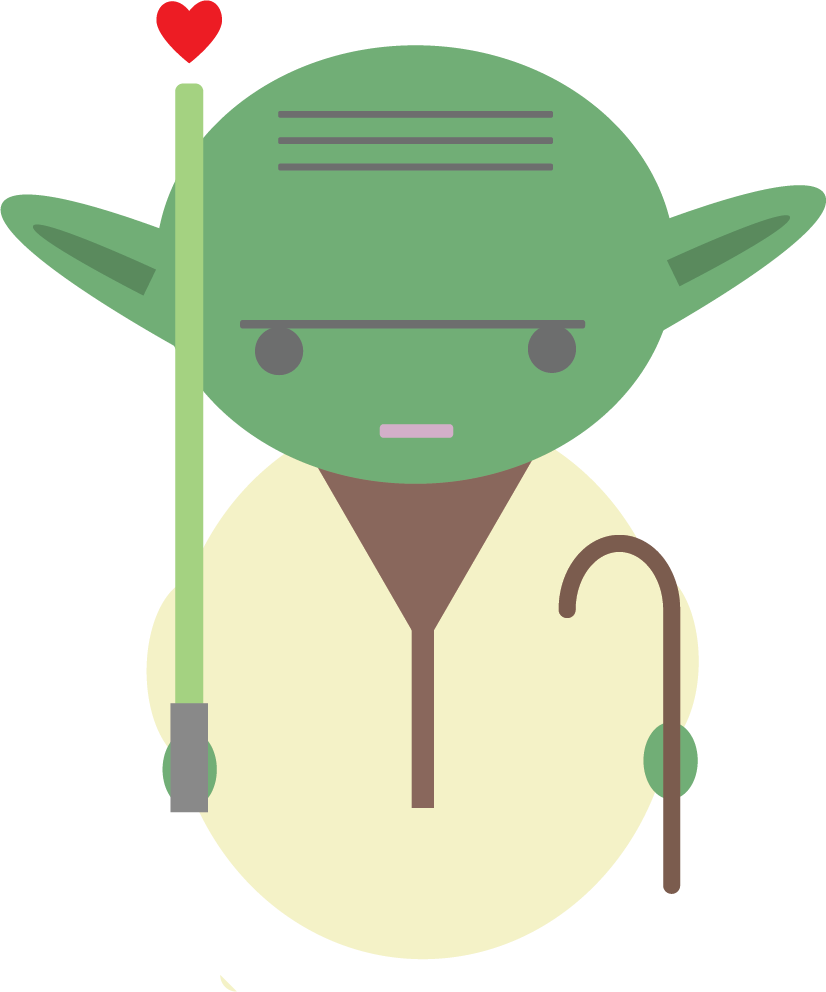 "Personal Project: A Valentine's Day  Yoda  (in honor of the release of ""The Last Jedi"" 