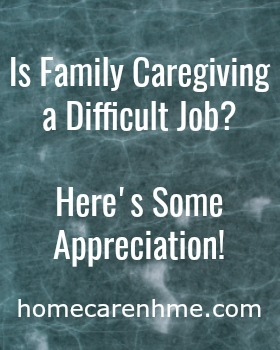 appreciation for family caregivers