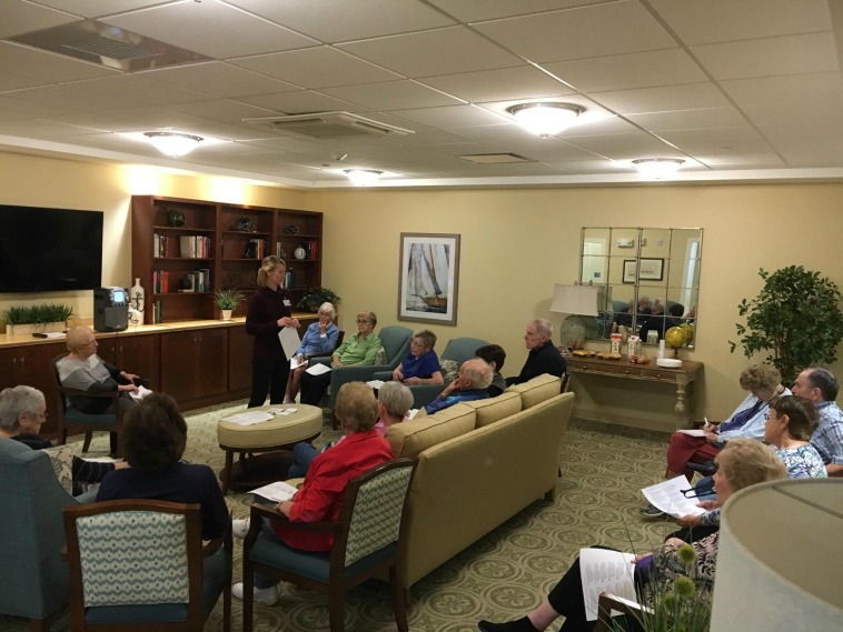 Recently Wentworth Homecare and Hospice held a discussion on dementia with specifics on Alzheimer's. This discussion was conducted by Holly Cande, a transitional care social worker and was held at Mast Landing where Abundant Blessings Homecare has an office and provides homecare services.