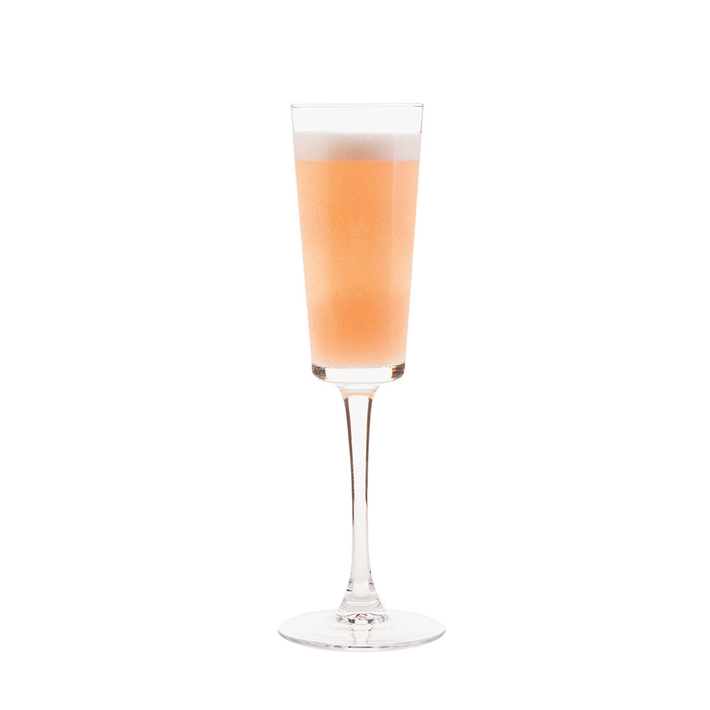 THE FELLINI - 1 part KLEOS Mastiha Spirit1 1⁄2 parts Boiron Peach Pureé1⁄4 part simple syrupShake all ingredients.Strain into a flute.Top with prosecco.                                      For the cinephiles who brunch.