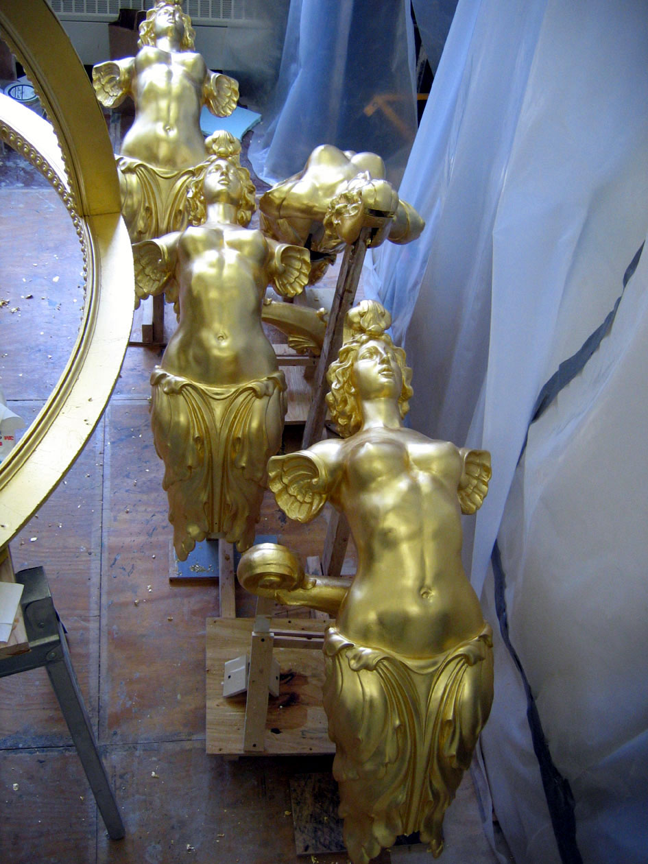 EverGreene Architectural Arts, Plaster Studio, figures for Armillary Sphere