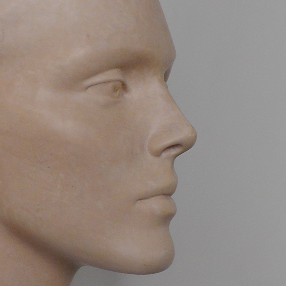 Mannequin head, detail, Aqua-Resin