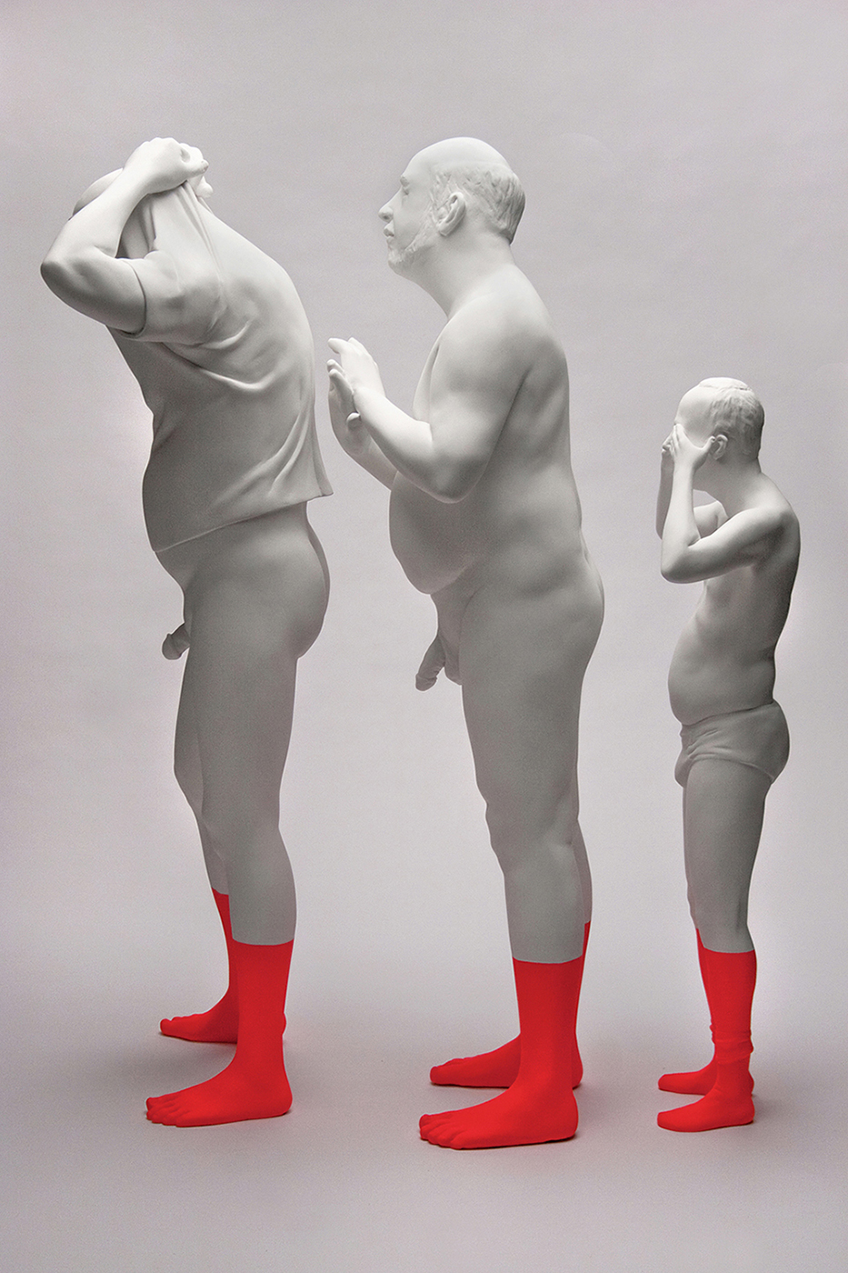"Christina West,  Intimate Strangers , 2015, painted Aqua Resin, 32-44"" tall"