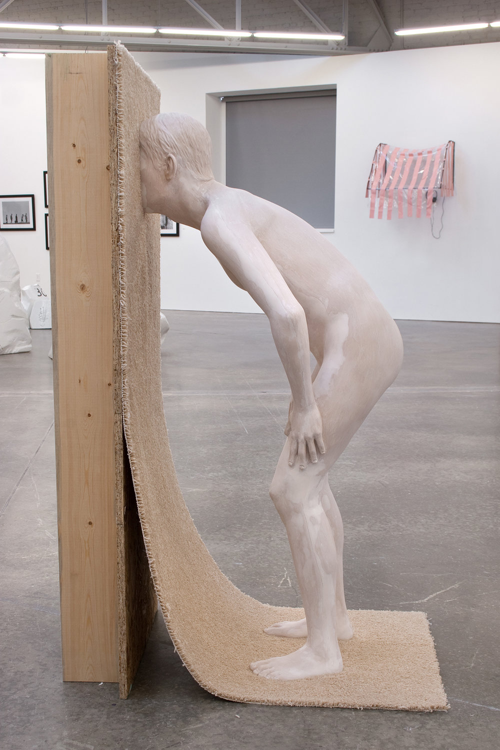 "Christina West,  You're Welcome , 2016, Aqua Resin, carpet, plywood, 47"" tall"