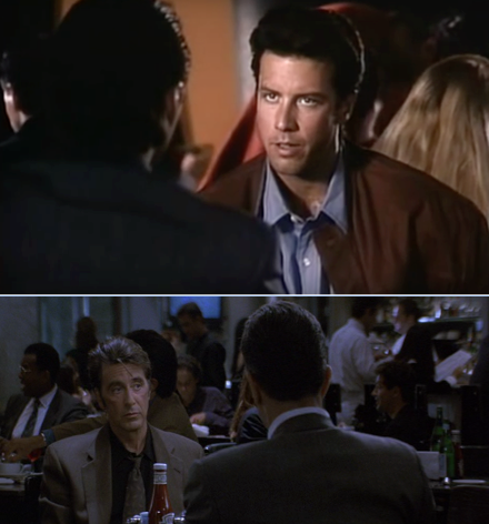 """Don't take down scores!"" -- Vincent Hanna in Michael Mann's L.A. Takedown (1989; above) and Heat (1995;below)."