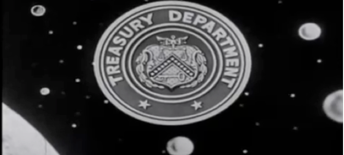 "Fig.2 ""The United States Treasury Department presents…The Adventures of Superman,"" so began each episode of The Adventures of Superman (ABC network, 1952-1958)."