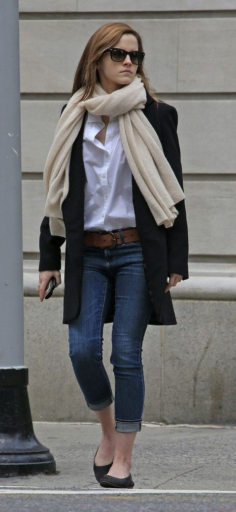 comfortable-classic-style-type-winter-street-styles-celebrity-white-button-down-flats-scarf-emmawatson.jpg
