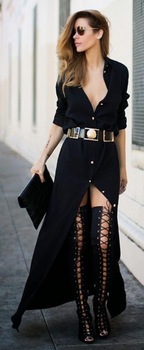 detail-boho-style-type-black-maxi-dress-shirt-wide-belt-gladiator-heels-overtheknee.jpg