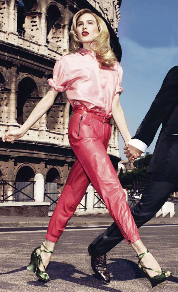 detail-romantic-girly-style-type-pink-shirt-pink-pants-monochromatic-green-wedge-sandals-blonde-dreehemingway.jpg