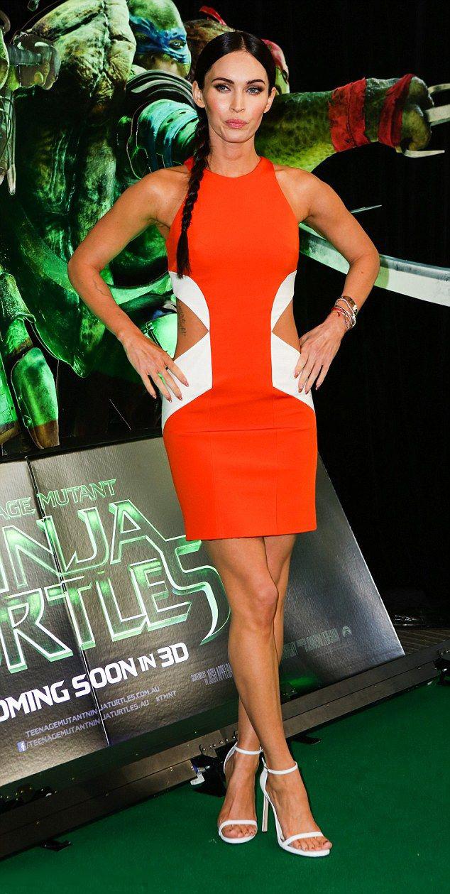 celebrity-dramatic-style-type-meganfox-orange-dress-braid-sandals.jpg