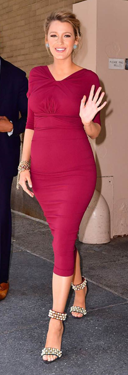 comfort-bombshell-sexy-style-type-black-lively-pink-magenta-dress-bodycon-pregnant-maternity-heels-streetstyle.jpg