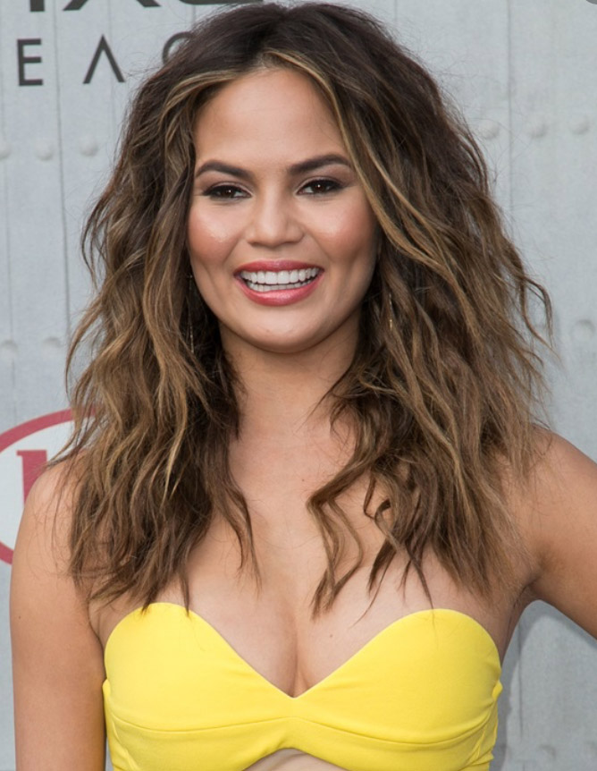 hair-bombshell-sexy-style-type-chrissyteigen-yellow-strapless-dress-wavy-long.jpg