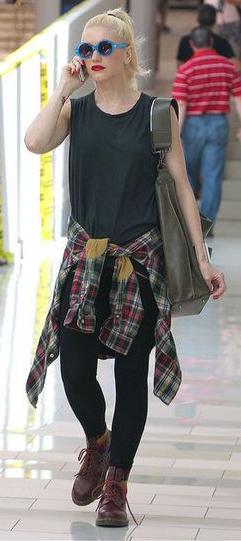 comfort-rebel-grunge-style-type-gwenstefani-tee-black-plaid-shirt-tied-at-waist-sunglasses-ponytail-streetstyle-blue.jpg