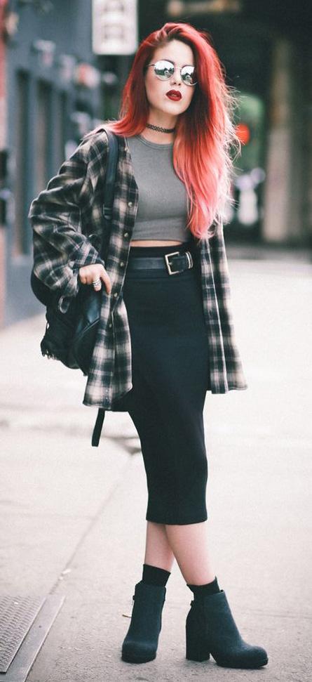 key-rebel-grunge-style-type-plaid-shirt-pencil-skirt-midi-crop-top-as-jacket-booties-red-hair-colored-choker.jpg