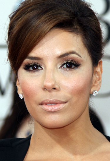 makeup-classic-style-type-evalongoria-nude-lips-diamond-earrings-updo.jpg