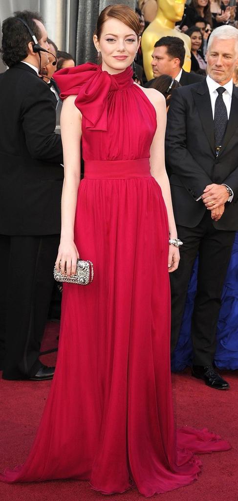 elegant-retro-style-type-fashion-emmastone-longpinkgown-redcarpet-bow-neck-updo-hair-red-flowing.jpg