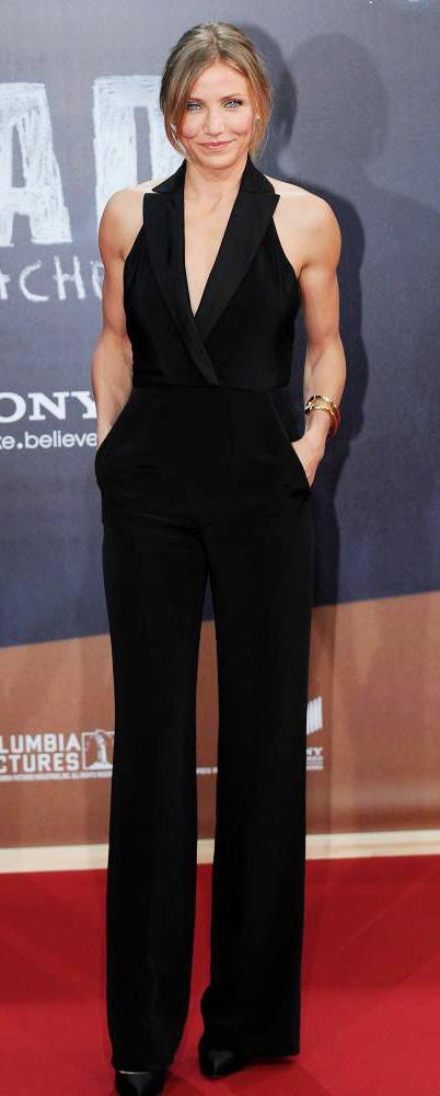 elegant-natural-sporty-style-type-camerondiaz-black-jumpsuit-sleeveless-wideleg-updo.jpg