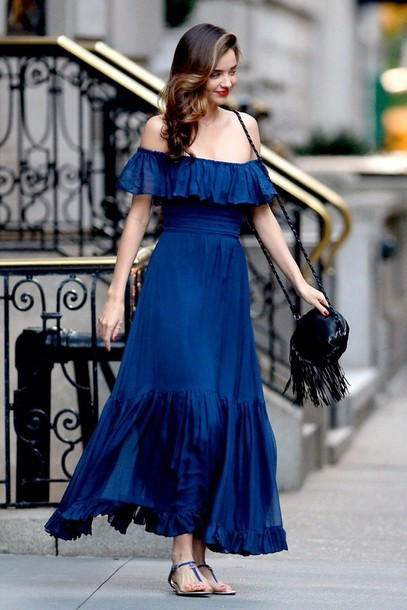 blue-navy-dress-black-bag-blue-navy-shoe-sandals-offshoulder-maxi-wear-style-fashion-spring-summer-mirandakerr-celebrity-brunette-classic-lunch.jpg