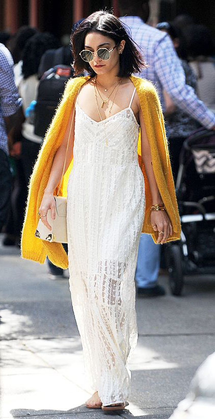 white-dress-maxi-yellow-cardigan-fuzzy-white-bag-necklace-sun-vanessahudgens-spring-summer-brun-lunch.jpg